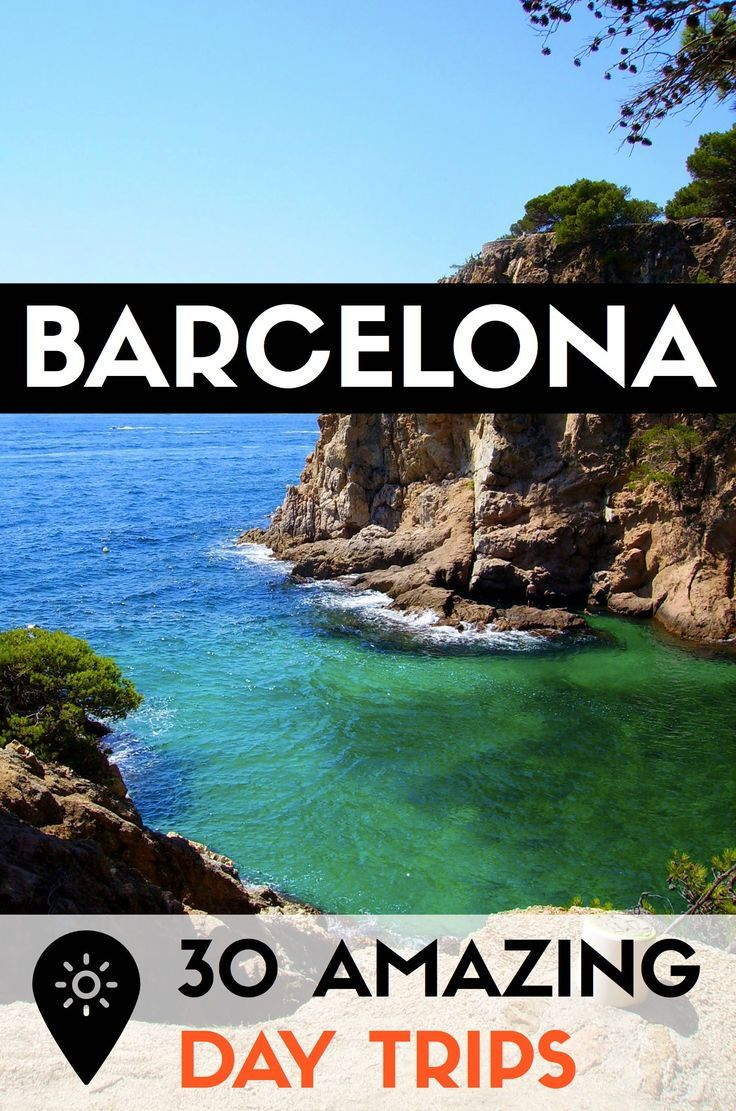 Find out 30 of the best day trips outside Barcelona to escape city life! Check out the best beaches, parks, villages and other getaways in Catalonia! #barcelona #catalonia #catalunya /visitcatalonia/