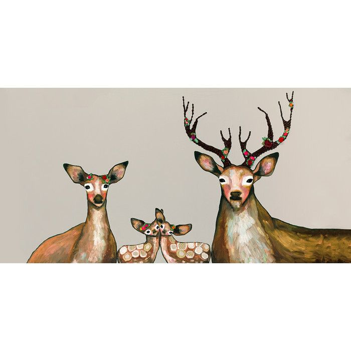 You'll love the Flower Deer Family Canvas Print at Joss & Main - With Great Deals on all products and Free Shipping on most stuff, even the big stuff.
