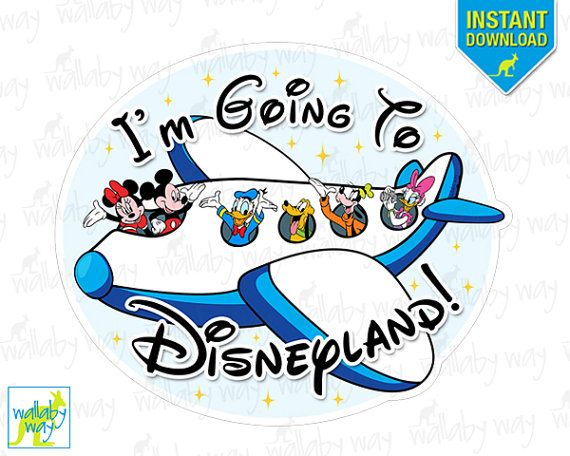 I 39 m going to disneyland mickey airplane printable iron on for Same day t shirt printing las vegas