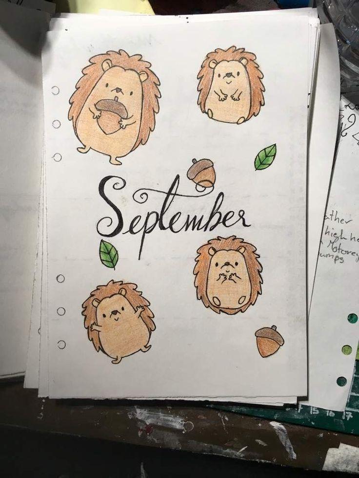 40 September Bullet Journal Titelseiten, die Sie inspirieren