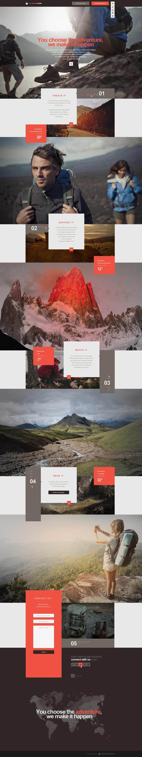 20 Website Concepts with Stunning Full Page Designs: OBH Landing Page Concept by Thomas Le Corre