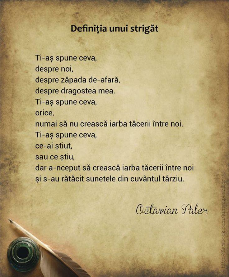 Definitia unui strigat - Octavian Paler
