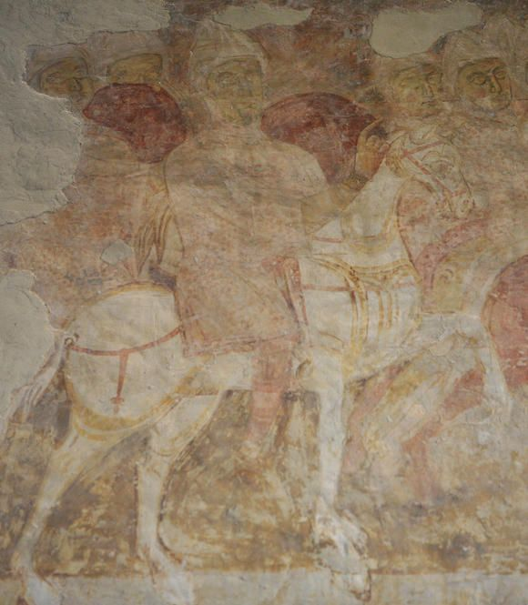 Fresco of Crusader Knights