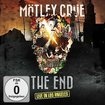 "Disco Blu-ray, DVD e CD ""The End - Live in Los Angeles"" dei #MötleyCrüe."