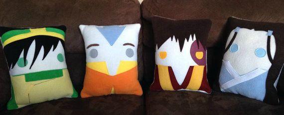 Aang Appa Avatar the last air bender pillow cushion by telahmarie