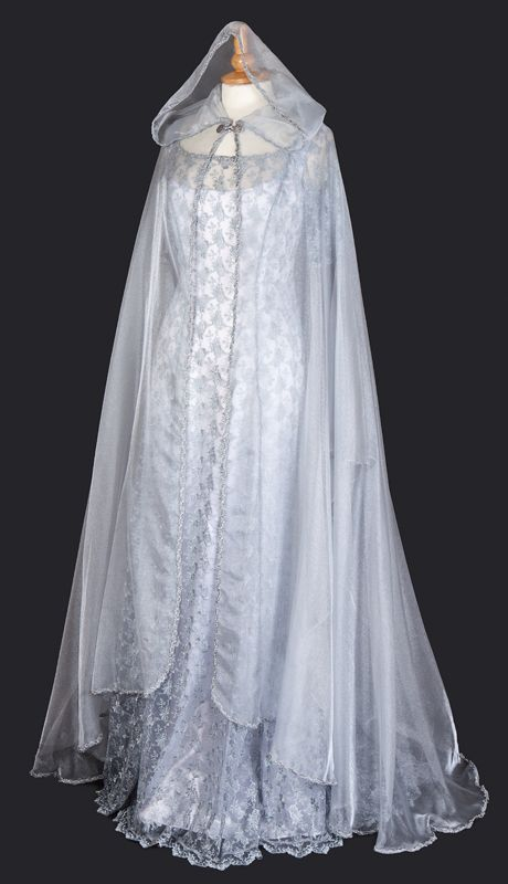 441SV - Silver Organza Cloak - Gothic, romantic, steampunk clothing from The Dark Angel