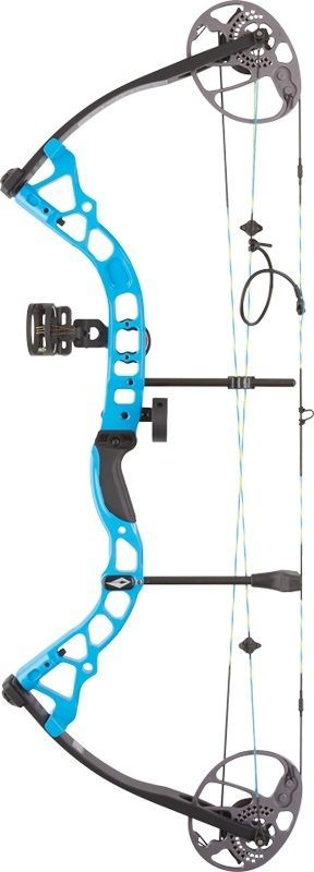 Compound 20838: 2017 Diamond Prism Compound Bow Package Blue Right Hand 5-55# BUY IT NOW ONLY: $295.0