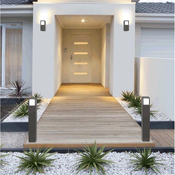 Eclairage design, aux formes épurées et géométrique, pour une entrée structurée et moderne