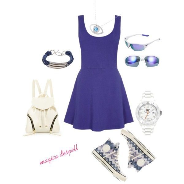 Girly and sporty!!! by magica-despell on Polyvore featuring Converse, Poverty Flats, Gemvara, Ice-Watch, John Lewis and NIKE