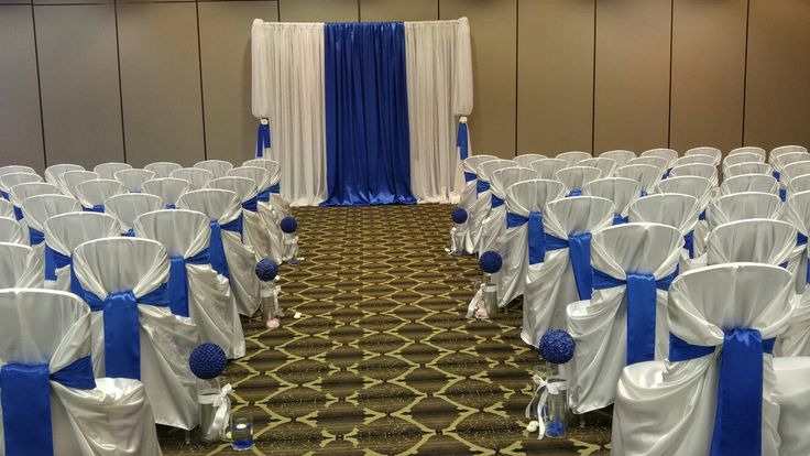 Set up we did at the Sutton Place Hotel  #blueandwhitewedding #blueandwhiteweddingdecor #backdrop