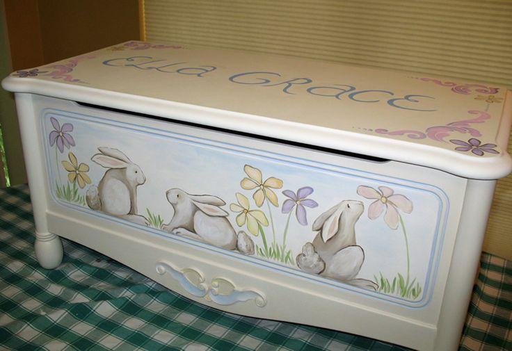pictures of hand painted toy chests | art by kiah :: fine art & custom murals :: children's art