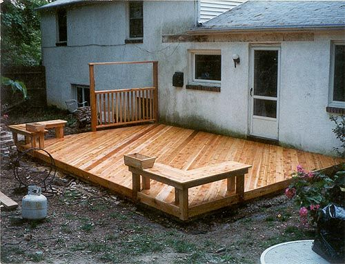 25 best ideas about ground level deck on pinterest for Redwood deck plans