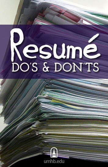 Resume Do's and Don'ts (This is just a small list another University had posted but made some valid tips about resume writing) #apsucommchat