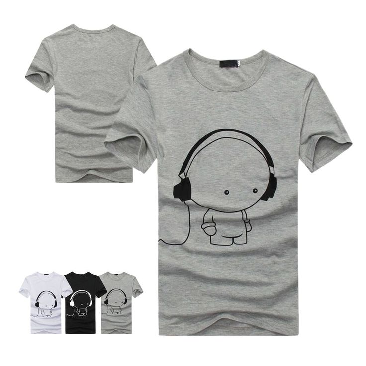 summer top short fashion sleeve men plus size  women t-shirt round neck print #Unbranded #Casual