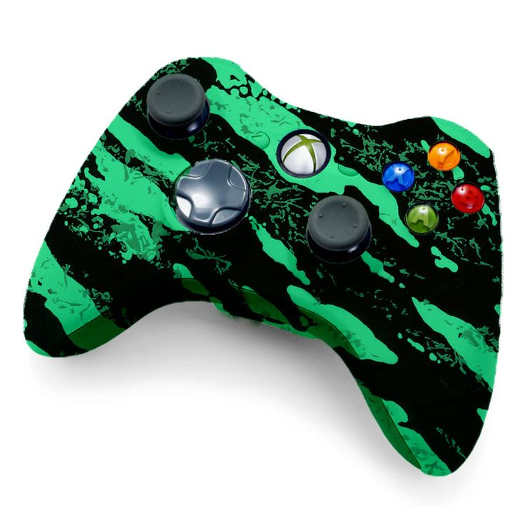 Xbox 360 Modded Controller   Xbox 360 Modded Controller Glow In The Dark Savage