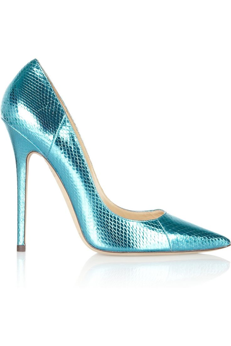 Jimmy Choo | Anouk metallic watersnake pumps