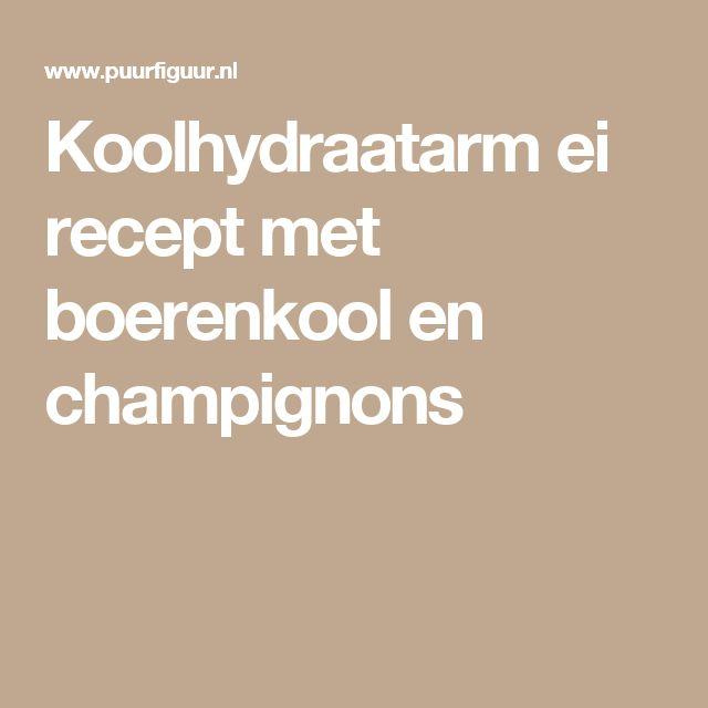 Koolhydraatarm ei recept met boerenkool en champignons