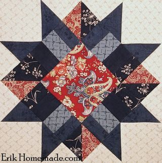 B Franklin Mystery Block 1  Make 3 or more for a beautiful tablerunner