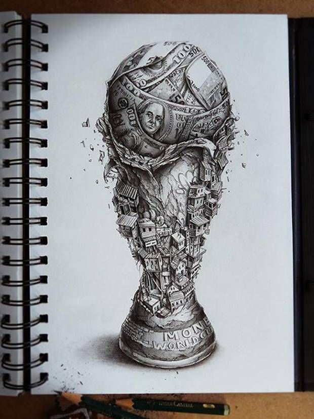 World Cup 2014 If The Situation In Brazil Could Be Summed Up In A Sketch Sketches Art Artwork