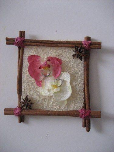 D co mariage iles exotique orchid e coussin pour les alliances mariage les - Deco mariage orchidee ...