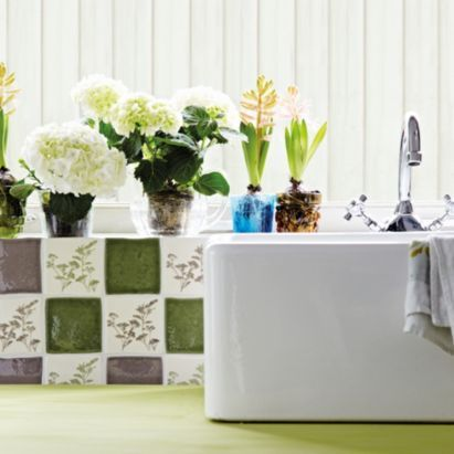 On pinterest double farmhouse sink olives and ceramic wall tiles
