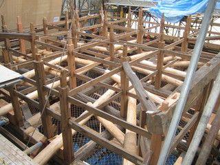 1>IMG_4773::羽黒神社 二重梁架け及び隅木部分補強