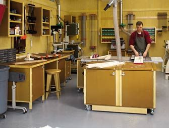 Garage Wood Workshop Ideas A Recent Kitchen Renovation Project Inspires New Woodshop Storage For My Recycle The Old Cabinets Into