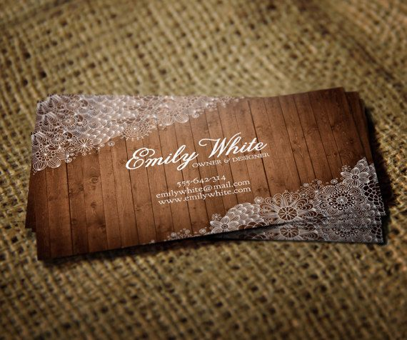 business card design flowers u0026 wood is a delicate and femine business card with a wood