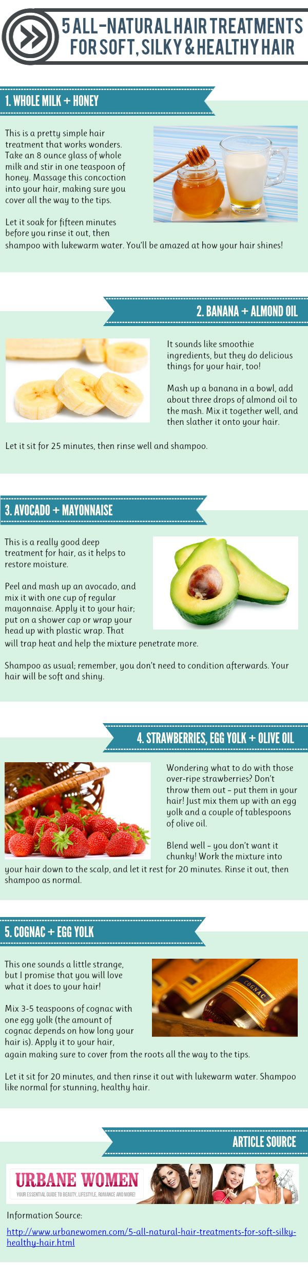 5 All-Natural Hair Treatments -Gotta try it!