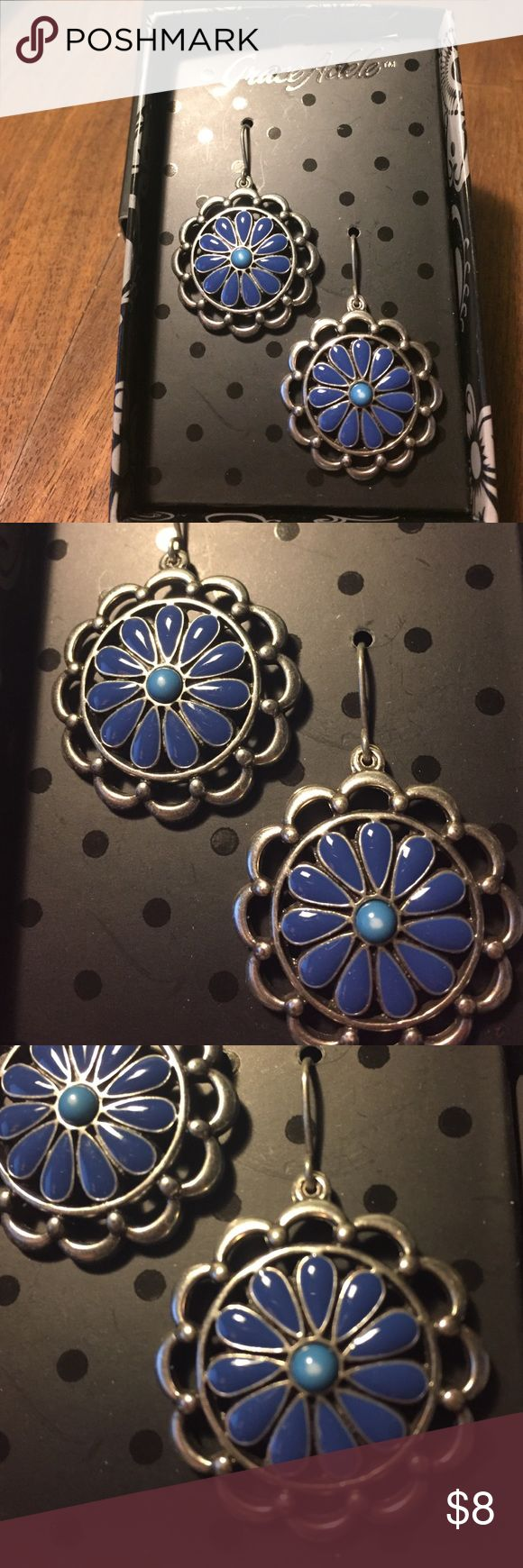Daisy Earrings New New Blue Daisy Earrings by Grace Adele new in Box did not have tag grace adele Jewelry Earrings