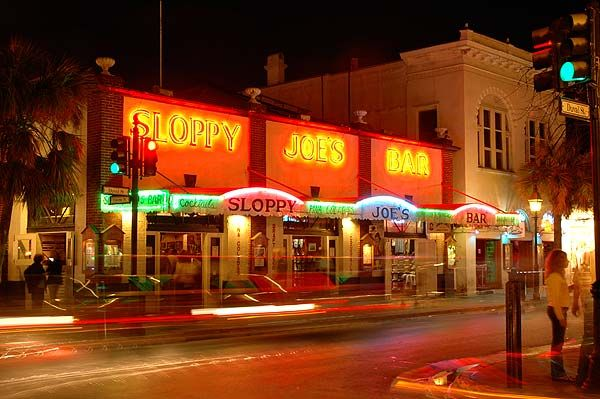 """Sloppy Joe's Bar on Duval Street is one of the most famous bars in Key West. It is a must see when in town.    Did you know that the original """"Hemingway's Sloppy Joe's"""" bar was located at 428 Greene Street and is known today as Captain Tony's Saloon. www.keywestoasis.com"""