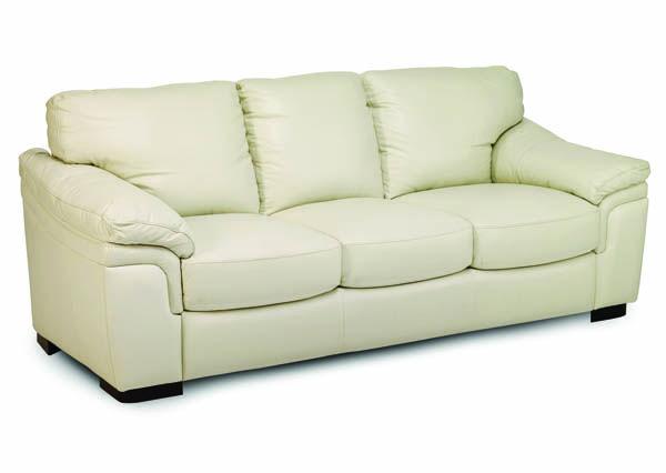 Furniture Piero Cream Leather Sofa, Jennifer Furniture Com