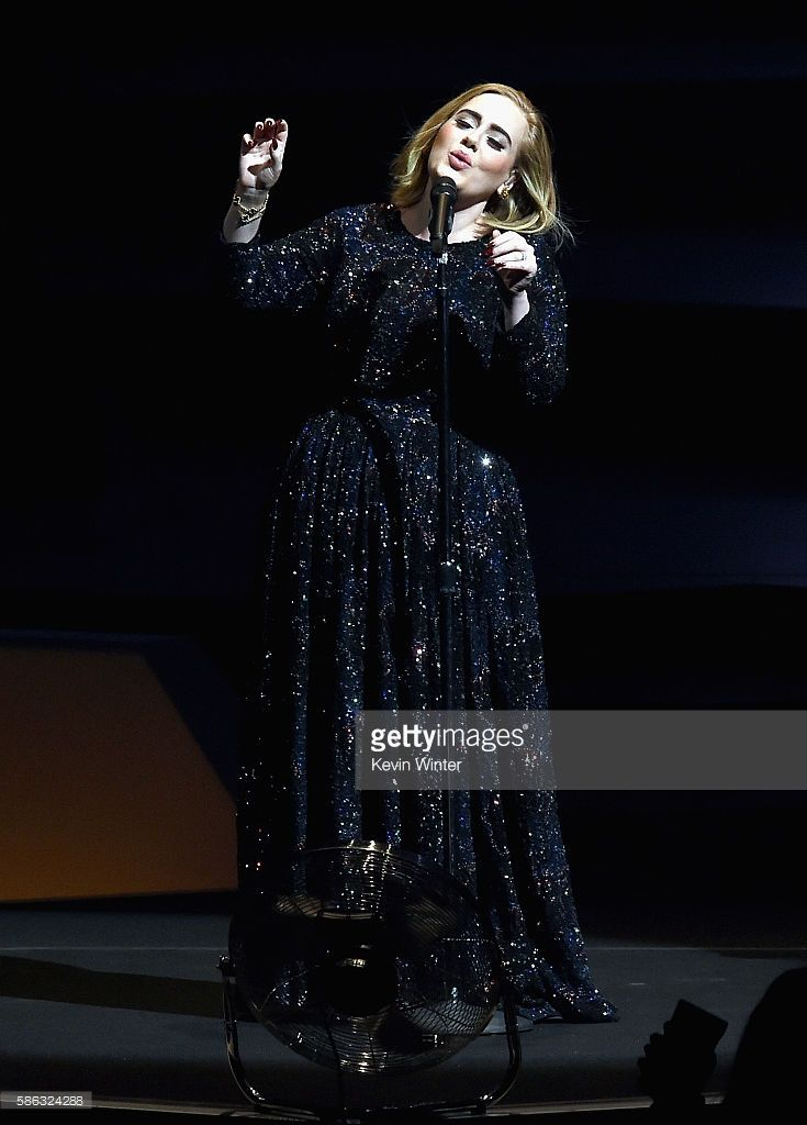 Singer Adele performs on stage during her North American tour at Staples Center on August 5, 2016 in Los Angeles, California.
