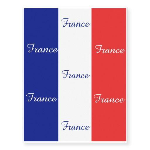 France flag tattoo