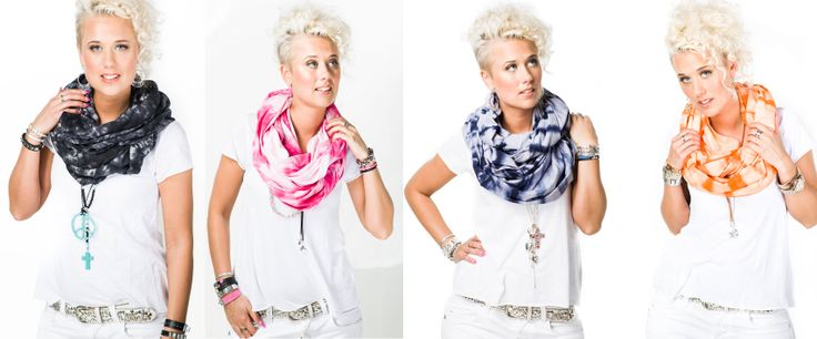 Colorful scarves for evey occasion.  Scarves S16P, S16O, S16B, S16NB