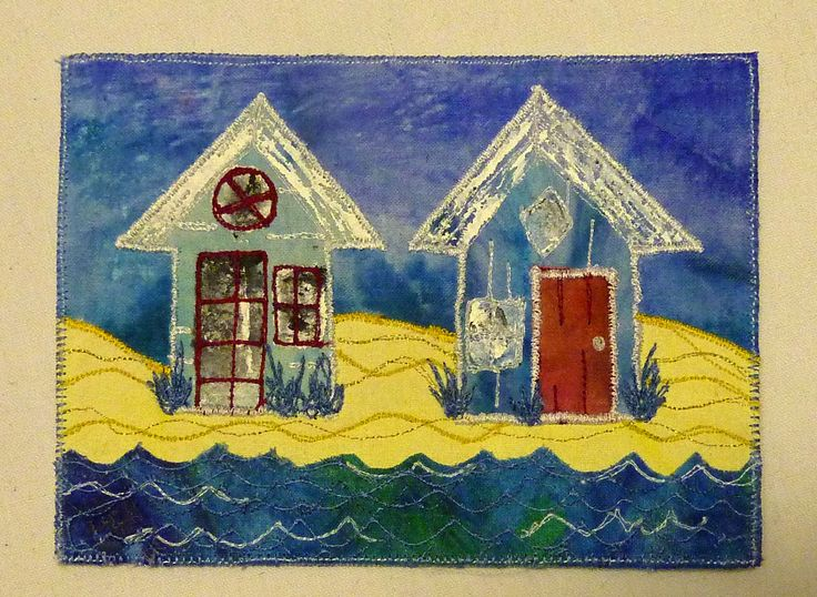 Make this beautiful beach hut card with Anne Moore at the show.