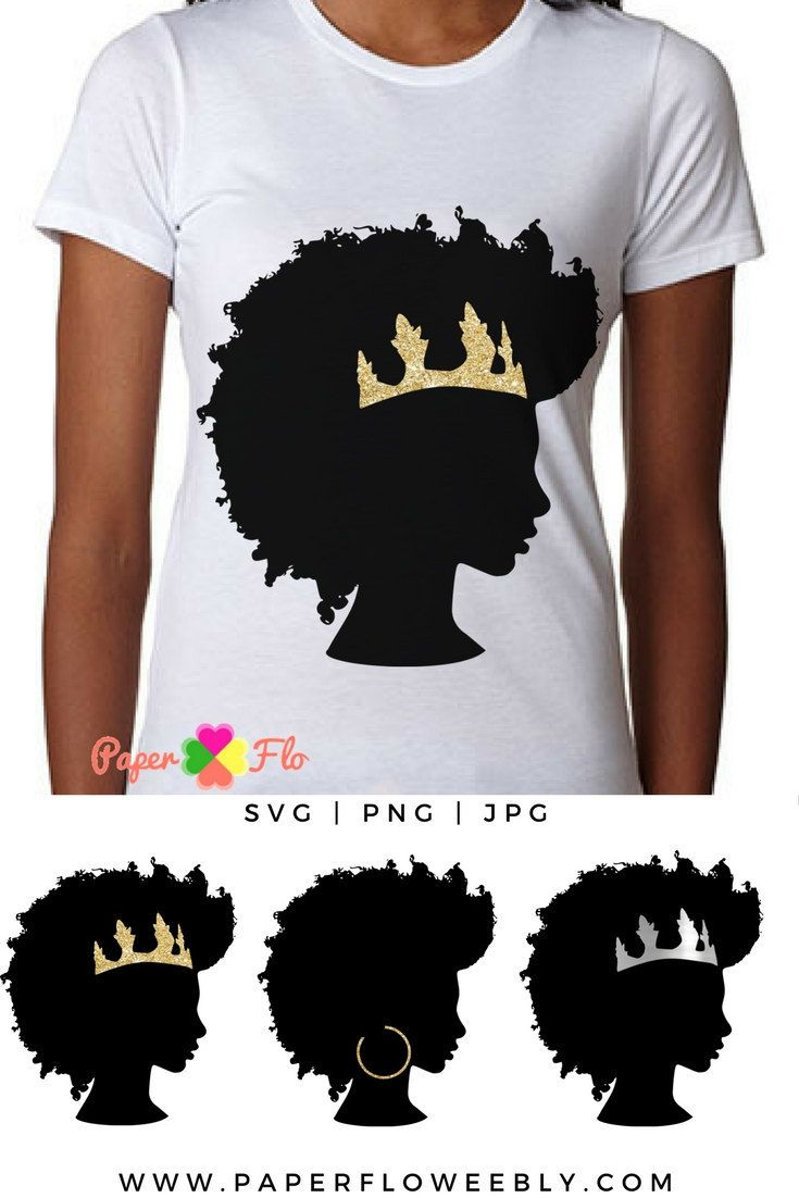 Afro hair SVG This afro svg is hand drawn. Try it to make tshirts, tumblers or any custom craft projects. #afrosvg #goldcrownsvg #crownSVG #faceclipart #blackgirlsvg #africanamericansvg #paperflodesign #blackqueensvg #vinylcrafts #tshirtdesign #queensvg