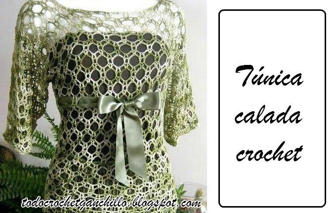 Patrones de Túnica calada tejida con ganchillo | Todo crochet