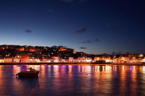 Christmas Lights at St Ives, Cornwall