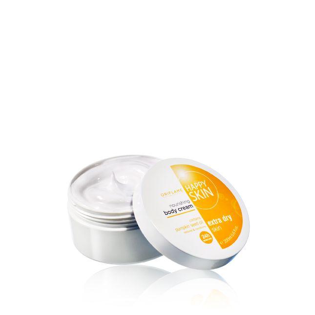 Creme Corporal Nutritivo para pele extrasseca Happy Skin #oriflame   Com grande promoção este catálogo! catálogo grátis: bit.ly/inscricaooriflame
