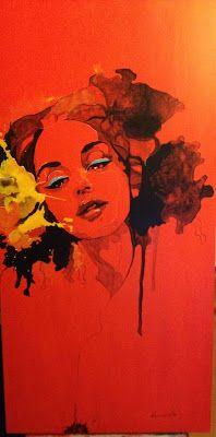 Art by Csaba Konyicska: Sentiment rosu