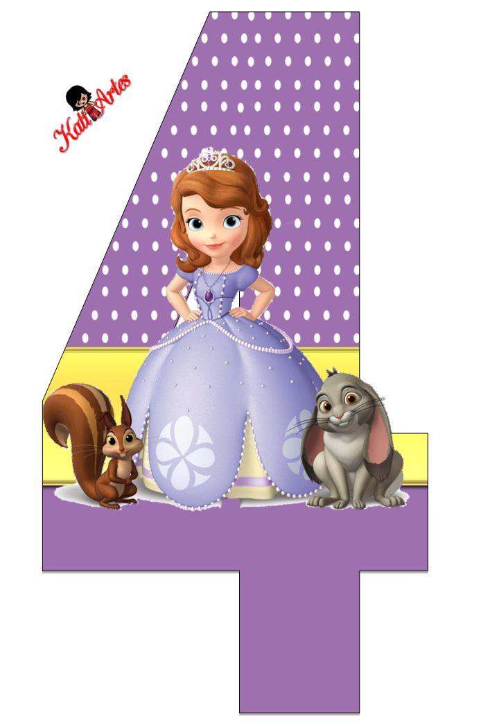 Alfabeto de Princesa Sofía con Fondo de Puntos Blancos. | Oh my Alfabetos!