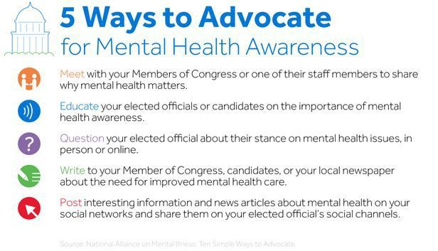advocate ways for mental health