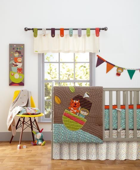 Mamas & Papas Timbuktales brightly colored Baby Bedding Set - 4 Piece Set