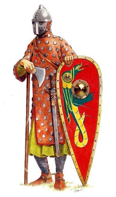 Saxon warrior, XII century