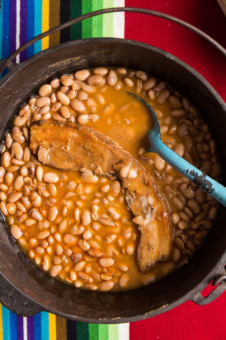 NYT Cooking: Pinto beans are emblematic of the Old West — good cheap hearty fare. These plain ones are good with just about anything or as a meal in a tin plate, cowboy-style, with a chunk of cornbread. For the best tasting beans, cook at a bare simmer, and keep the liquid level just 1 inch above the beans' surface as they cook.