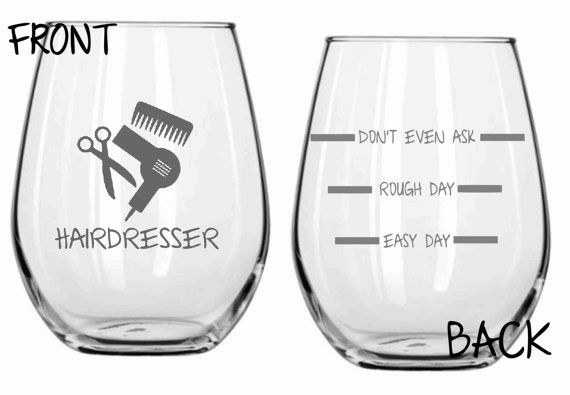 Etched Hairdresser Glass Set of 2 NEED!!!!
