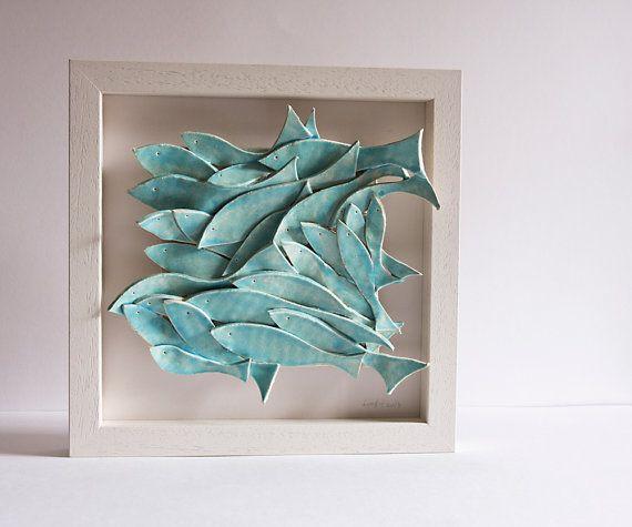50 Second 39 S Sale Ceramic Wall Art School Of Fish