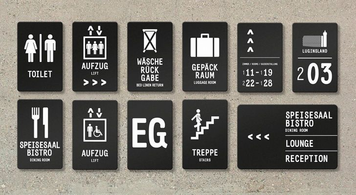 Typography + graphic ideas for signage