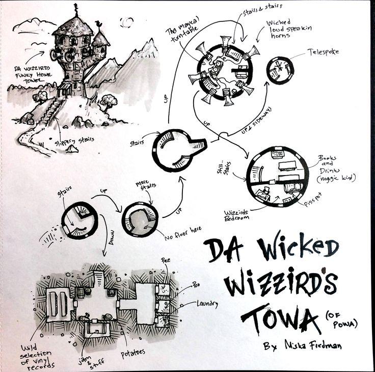 Da Wickid Wizzird's Funky Towa | Miska Fredman on Patreon